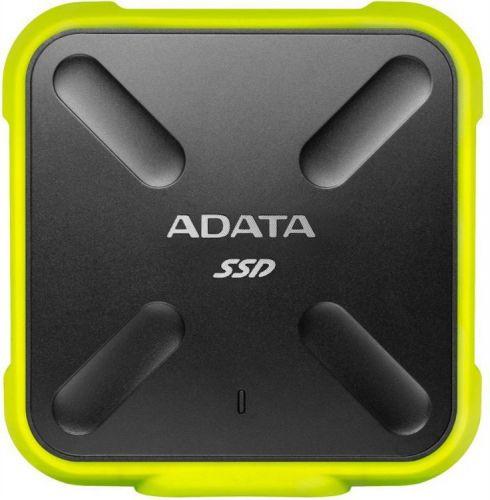 Накопитель SSD USB 3.1 ADATA ASD700-1TU31-CYL SD700 1TB 440/440MB/s IP68 adata sd700 series 256gb asd700 256gu31 cbk черный