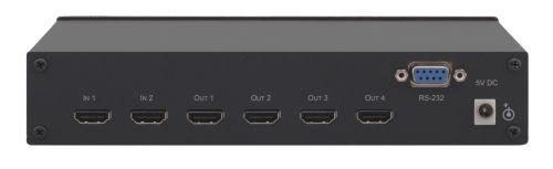Усилитель-распределитель Kramer VM-24HC 10-71007090 1:4 сигналов HDMI, коммутатор 2x1