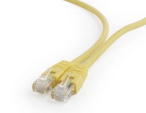 Кабель патч-корд UTP 6 кат. 1м. Cablexpert PP6U-1M/Y литой, многожильный, жёлтый