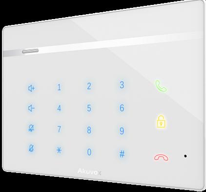 Вызывная панель Akuvox С312S без экрана, сенсорная цифровая клавиатура РоЕ, Linux, подключение внешней кнопки звонка, монтаж на магнитое основание