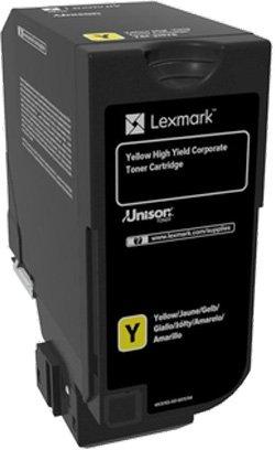 Картридж Lexmark 74C5HYE с тонером желтого цвета высокой емкости для организаций (12 000 стр.) для CS725de
