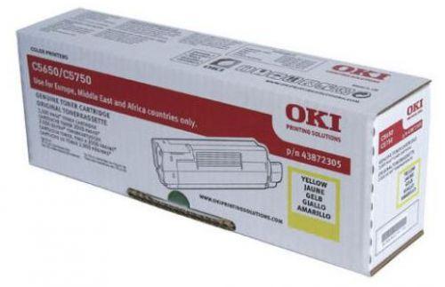Картридж OKI 43872321 Tонер-картридж желтый (2K) OKI C5650/5750
