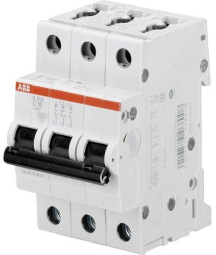 Фото - Автоматический выключатель ABB 2CDS253001R0034 S203 3P 3A (C) 6kA выключатель rexant 220v 3a 5с green 06 0353 a