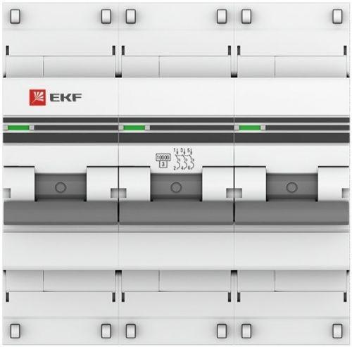 Автоматический выключатель EKF mcb47100-3-100C-pro модульный 3п C 100А 10кА ВА 47-100 PROxima