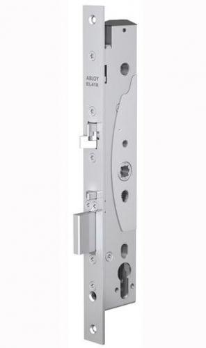Замок Abloy EL418 врезной моторный, со встроенным блоком управления для профильных дверей, стандарт DIN, контроль доступа с одной стороны, выход по ру