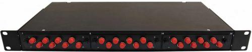 """Кросс оптический стоечный 19"""" стационарный 1U TELCORD КСу-24-1U 24-ST/MM-24-ST/PC-MM50(OM3)-1-КУ-BK  - купить со скидкой"""