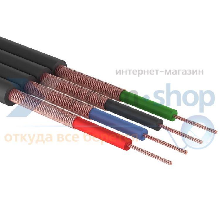 PROCONNECT ШГЭС, 4 жилы, плоский, черный, 100 м., LT