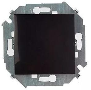 Выключатель Simon 1591101-032 Simon 15 Чёрный 1-клавишный, 16А, 250В, винт.заж.