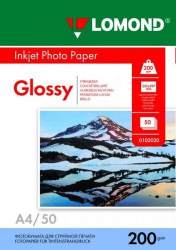 Бумага Lomond 0102020 A4 глянцевая, 200г/м2, 50 листов