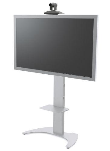 Стойка стационарная FIX M50 для телевизоров и панелей 32-50 до 50кг, VESA max 600х400, высота 150-170см, серебро мобильная стойка для панелей и телевизоров fix m50 black