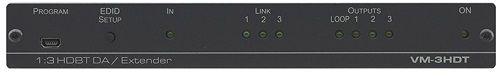 Передатчик Kramer VM-3HDT 10-8048901090 HDMI по витой паре HDBaseT с тремя выходами, до 70м, поддержка 4К60 4:2:0