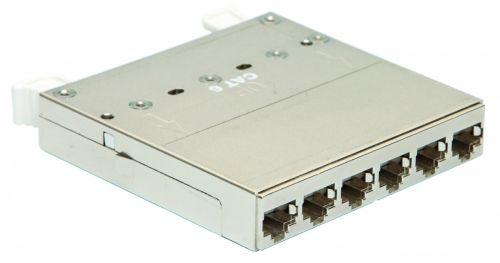 Кассета Eurolan 27C-00-F6-06BL 6 портов категории 6 FTP