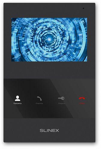 Видеодомофон Slinex SQ-04M Black цветной, настенный, 4.3