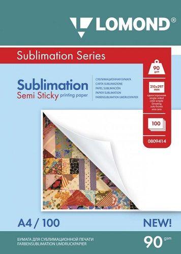 Бумага Lomond 0809414 Сублимационная бумага Lomond липкая 90/А4/100л (100л.)