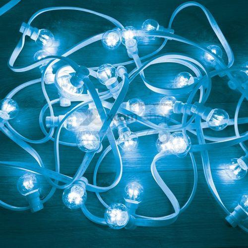Гирлянда NEON-NIGHT 331-303 LED Galaxy Bulb String 10м, белый каучук, 30 ламп*6 СИНИЕ, влагостойкая IP54
