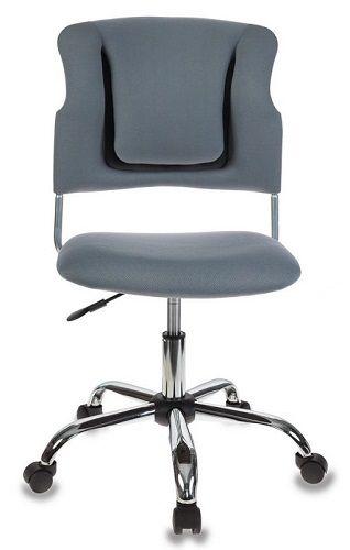 Кресло Бюрократ CH-322SXN серое, спинка динамичная поддержка, крестовина хром