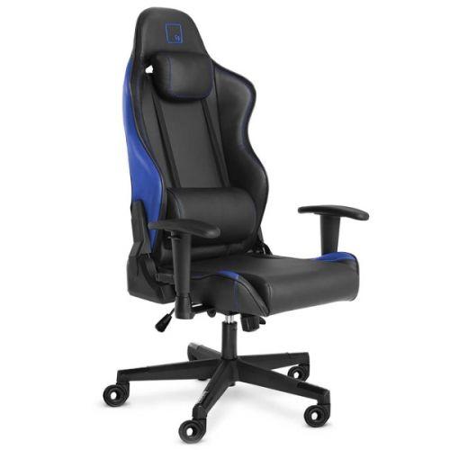Кресло WARP SG чёрно-синее (экокожа, алькантара, регулируемый угол наклона, механизм качания)