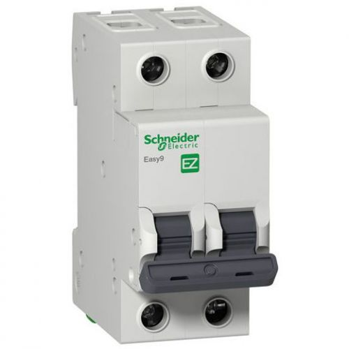 Автоматический выключатель Schneider Electric EZ9F34232 2P 32A (С) (серия EASY 9) автоматический выключатель schneider electric ez9f34210 2p 10a c серия easy 9