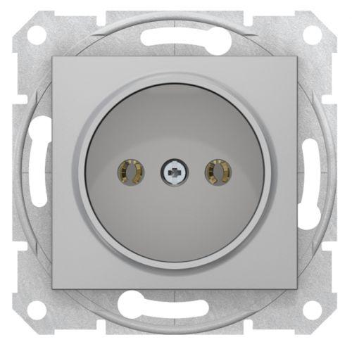 Розетка Schneider Electric SDN2900260 1-ая 16А без з/к, без шторок, быстрозаж. контакты Sedna алюминий