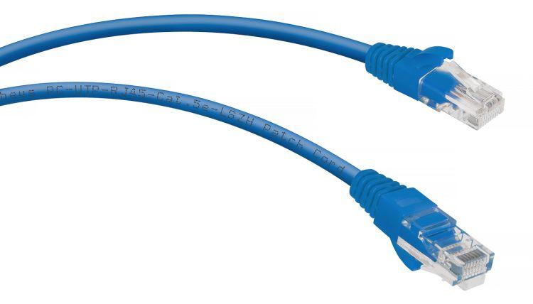 Cabeus PC-UTP-RJ45-Cat.5e-0.5m-BL-LSZH
