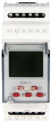 Реле времени Zamel ZCM-11 недельное 1-канал ЖК 16А 400 программ на DIN рейку