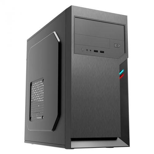 Корпус mATX Foxline FL-702-FZ450 черный, 450W, 2*USB 2.0, audio  - купить со скидкой