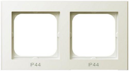 Рамка Ospel RH-2R/27 для выключателей IP-44, двойная, экрю