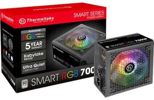 Блок питания ATX Thermaltake Smart RGB 700W PS-SPR-0700NHSAWE-1 aPFC, 120mm FAN, КПД 80+, Ret