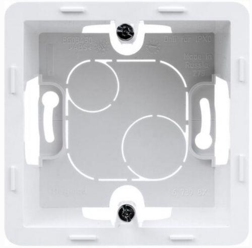 Коробка Legrand 673980 Inspiria белая накладного монтажа - 1 пост