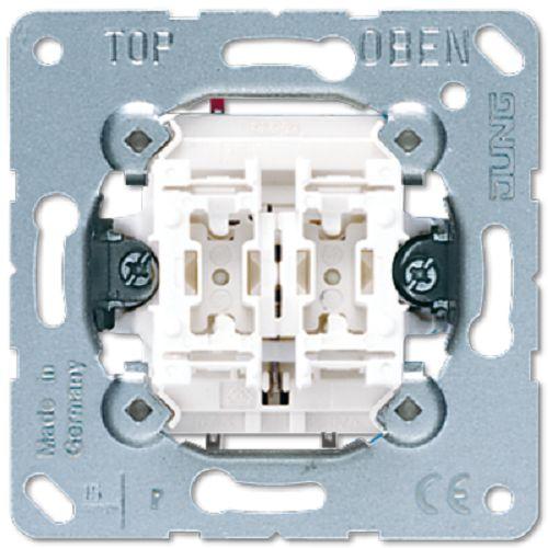 Выключатель Jung 535U (механизм) 2-клавишный кнопочный (2 НО контакта)