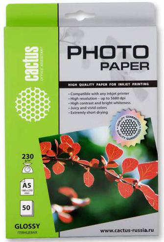 Фотобумага Cactus CS-GA523050 A5/230г/м2/50л./белая, глянцевая для струйной печати фотобумага cactus cs ga623050ed 10x15 230г м2 50л белый глянцевая для струйной печати