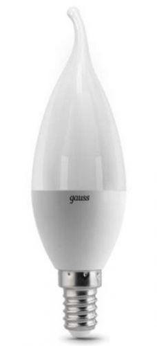 Лампа светодиодная Gauss 104101107 LED Candle tailed E14 6.5W 2700K светодиодная лампа gauss black filament led candle tailed e14 11w 2700k 104801111