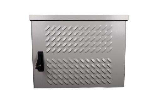 Шкаф настенный 19, 9U ЦМО ШТВ-Н-9.6.3-4ААА-Т2 уличный всепогодный, укомплектованный, (Ш600 × Г300), комплектация T2-IP65