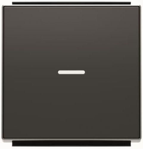 Панель лицевая ABB 2CLA850130A1501 для 1-клавишных выключателей/переключателей/кнопок с линзой подсветки, чёрный бархат
