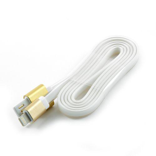 Кабель интерфейсный USB 2.0 Cablexpert AM/Lightning 8P CC-ApUSBgd1m 1 м, силиконовый шнур, разъемы золотой металлик, пакет