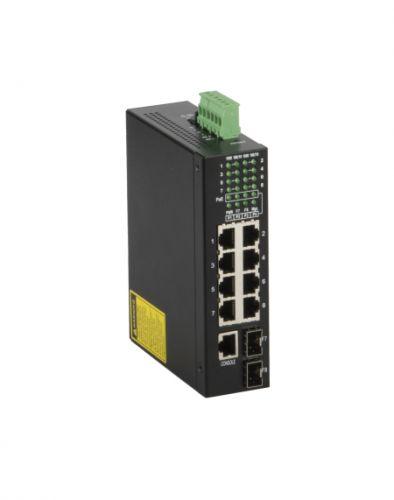 Коммутатор PoE GIGALINK GL-SW-G202-08PSG-I L2, на DIN рейку, 6 x 10/100/1000 mbs, 1-4 port PoE af 15.4w, 2 x Combo (SFP) питание 48В, 150 Ватт, L2 (пи диск x race af 10 6 x 15 модель 9162380