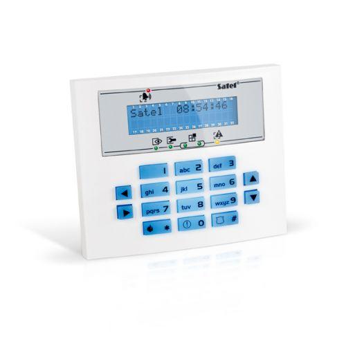 Клавиатура SATEL INT-KLCDS-BL ЖКИ для ПКП INTEGRA и CA-64 , 2 строки по 16 символов, голубая подсветка клавиш и дисплея