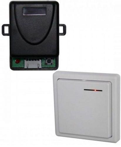 Комплект Smartec ST-EX003RF управления по радиоканалу (приемник + радиоканальная накладная кнопка), память до 30 брелоков, реле НЗ/НР, триггерный и им