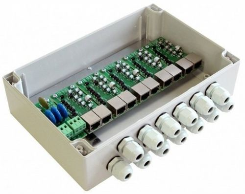 Блок TFortis SG-Switch грозозащиты, обеспечивает дополнительную защиту цепей питания 220В и Ethernet-коммутаторов TFortis PSW от помех большой энергии