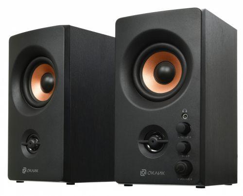 Портативная акустика 2.0 Oklick OK-164 1144741 черный 30Вт