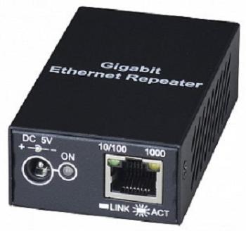 Повторитель SC&T SR01X Gigabit Ethernet для увеличения расстояния передачи до 120м. Возможно каскадное подключение повторителей