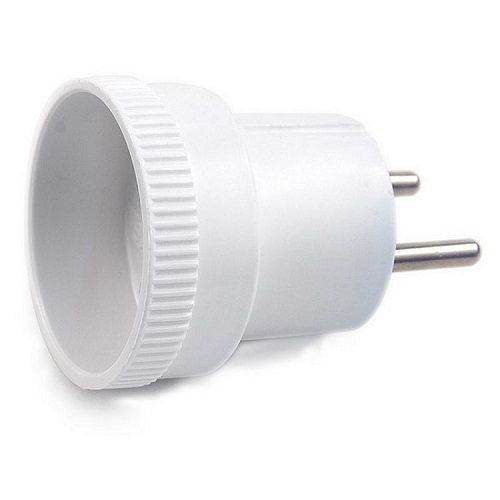 Вилка Makel 10009 (адаптер-переходник) 250В, 6А переходник старт 6а 250в стакан белый