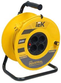 Фото - Удлинитель силовой IEK WKP14-10-04-30 4 розетки шнур 30м ПВС 3x1 УК30 с термозащитой провод севкабель пвс 3x1 5