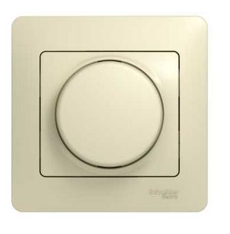 Светорегулятор Schneider Electric GSL000234 (диммер) поворотный, 300Вт (в сборе с рамкой)