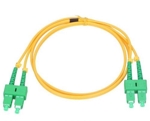 Кабель патч-корд волоконно-оптический Vimcom DPC-SM-3.0-SC/APC-SC/APC-2 duplex SC/APC-SC/APC, одномодовый (9/125 мкм), диаметр 3.0 мм, длина 2 м