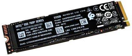 Накопитель SSD M.2 2280 Intel SSDPEKKW512G801 760p 512GB TLC 3D2 PCI-E NVMe 3.0 x4 3230/1625MB/s 340K/275K IOPS MTBF 1.6M Single Pack накопитель ssd intel pci e x4 2tb ssdpedke020t710 dc p4600 pci e aic add in card