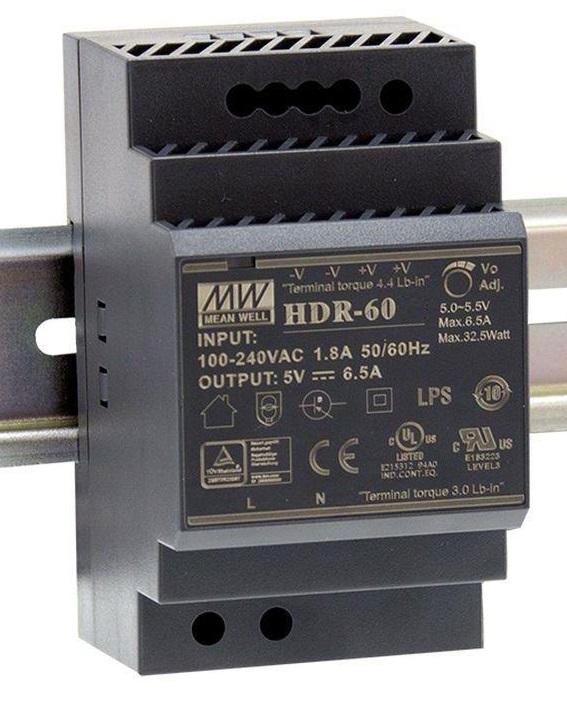 Преобразователь AC-DC сетевой Mean Well HDR-60-5