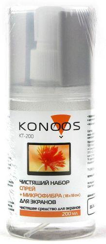 Набор Konoos KT-200 для ЖК-экранов (спрей 200мл +салфетка)
