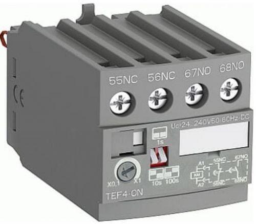 Приставка ABB 1SBN020112R1000 времени электронная для AF09...A38 (задержка на включение 0.1…100с) TEF4-ON