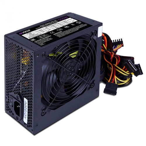 Блок питания ATX HIPER HPA-550 550W, Active PFC, 80Plus, 120mm fan, черный, BOX недорого